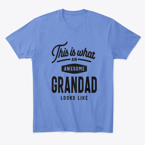 This Is What An Awesome Grandad  Heathered Royal  T-Shirt Front
