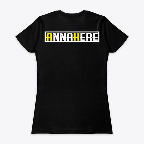 Anna Here Black T-Shirt Back