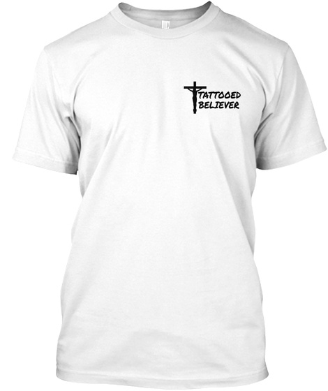 Tattooed Beltever White T-Shirt Front