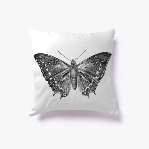 !St Butterfly Shirt, Pillow And Canvas White T-Shirt Front