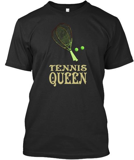 Tennis Queen Black T-Shirt Front