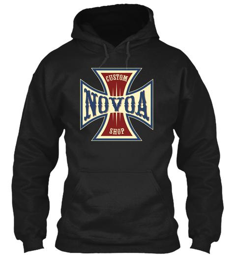 Novoa Custom Shop Black T-Shirt Front