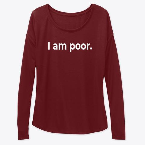 i am poor shirt