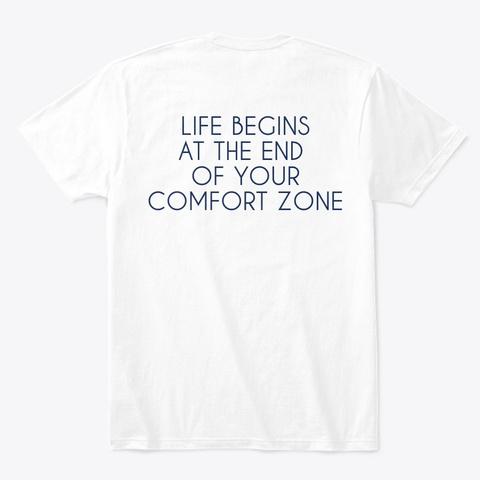 Camiseta Blanca Comfort Zone White T-Shirt Back