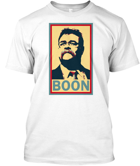 Boon White T-Shirt Front