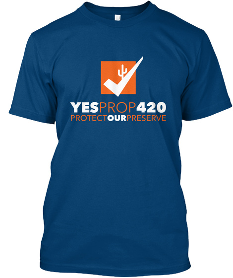 Yesprop420 Protectourpreserve Cool Blue T-Shirt Front