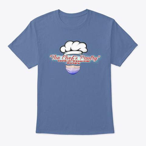 Chef Covid Denim Blue T-Shirt Front