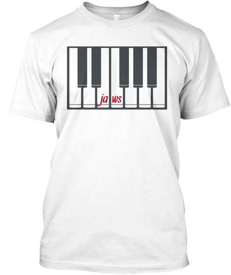 Jaws White T-Shirt Front