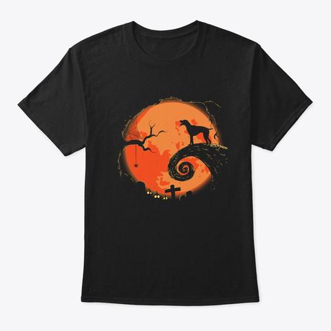 Halloween German Shorthaired Pointer Dog Black T-Shirt Front