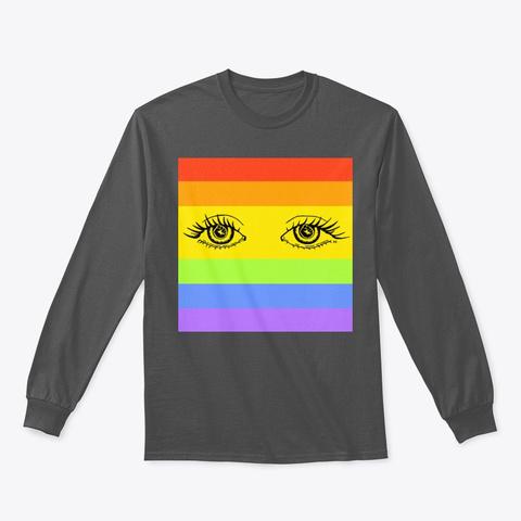 Blm Eyes (Lgbtq+) Charcoal T-Shirt Front