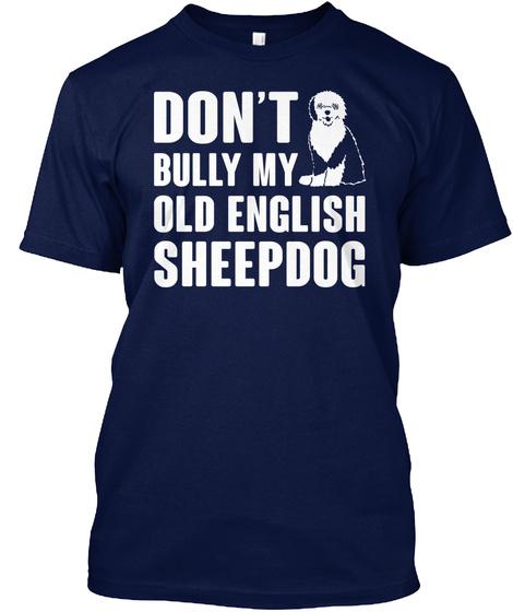 Old English Sheepdog Navy T-Shirt Front