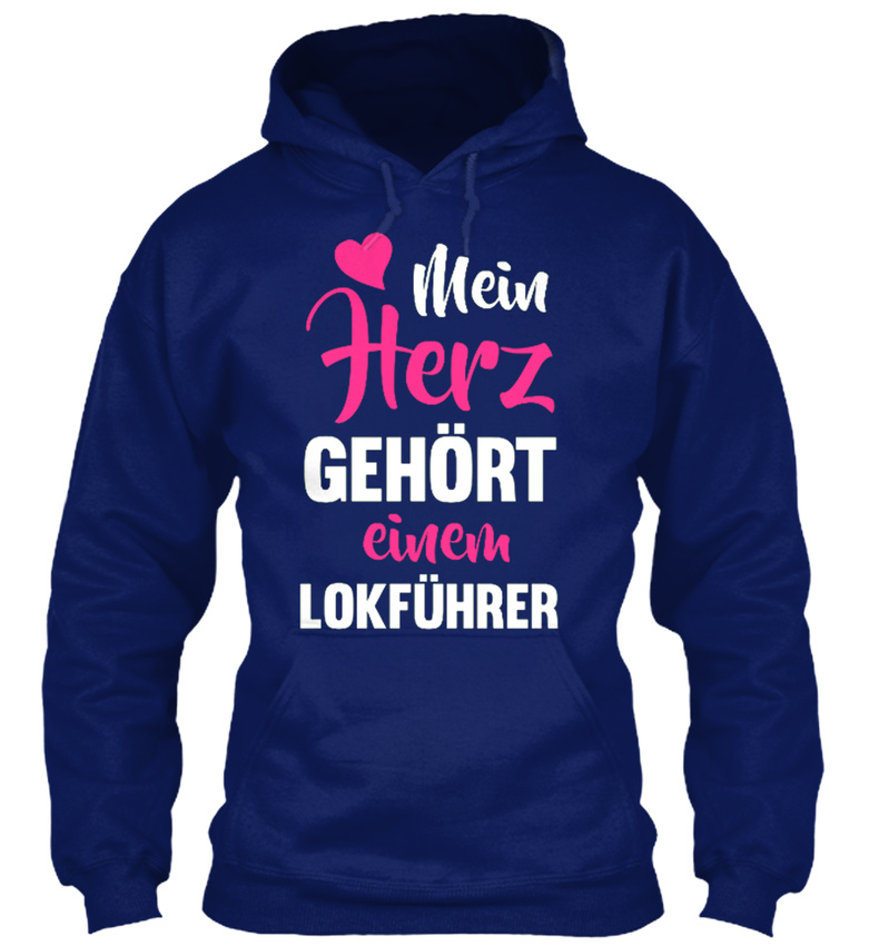 Machine-washable-LokfUhrer-Herz-GehOrt-Nur-Online-Sweat-a-Capuche-Confortable