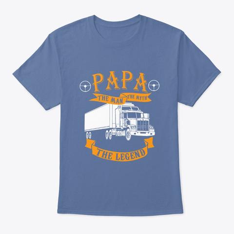 Greatest Dad Denim Blue T-Shirt Front