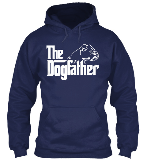 The Dogfather  Navy Sweatshirt Front