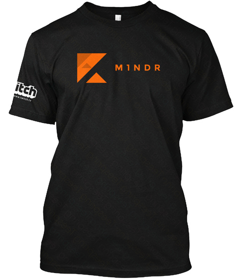 Mindr Black T-Shirt Front