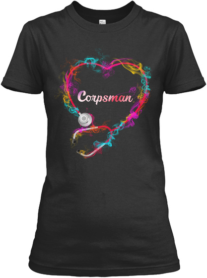 Awesome Corpsman Shirt Black T-Shirt Front