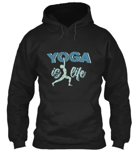 Yoga Meditation Hatha Soul Pilates Black T-Shirt Front