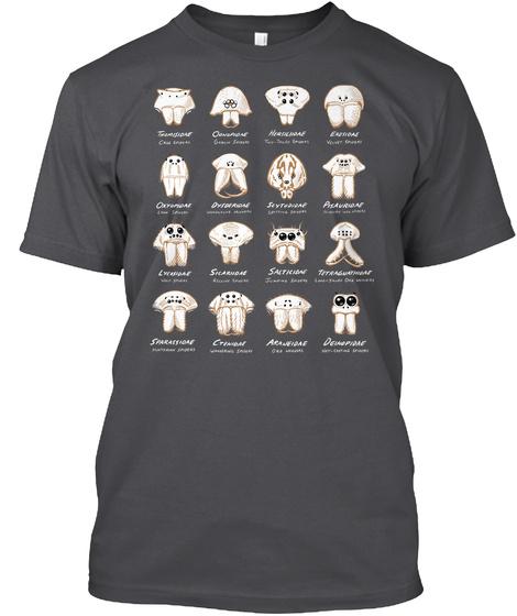 Dark Spider Eye Arrangements T Shirt *Eu Charcoal T-Shirt Front