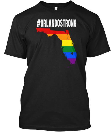 #Orlandostrong Black T-Shirt Front