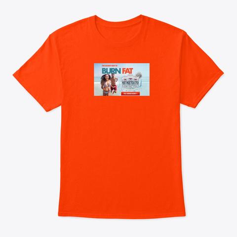 Fusion Rise Keto  Weight Loss Formula Orange T-Shirt Front