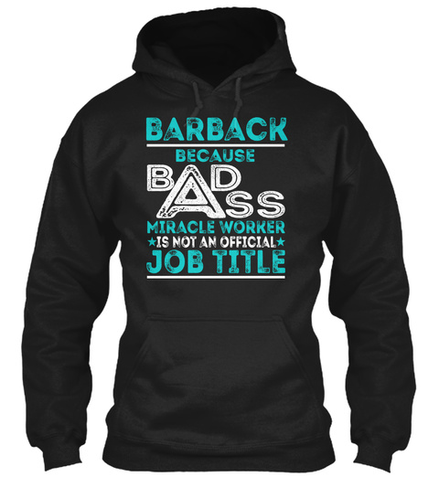 Barback   Badass Black T-Shirt Front