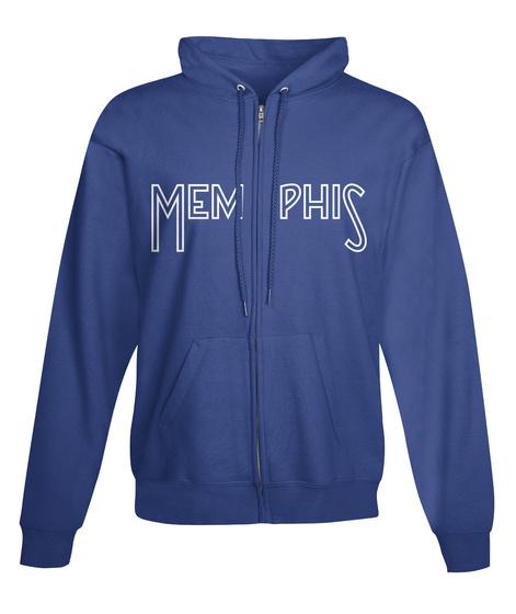 Memphis Hoodie Royal Sweatshirt Front