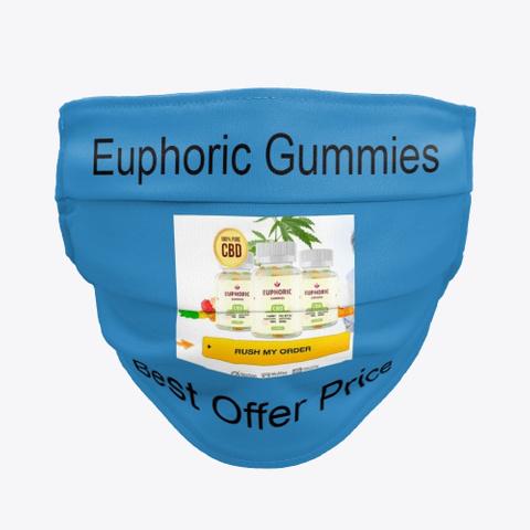 Euphoric Gummies Reviews, Benefits, Buy! Denim Blue T-Shirt Front