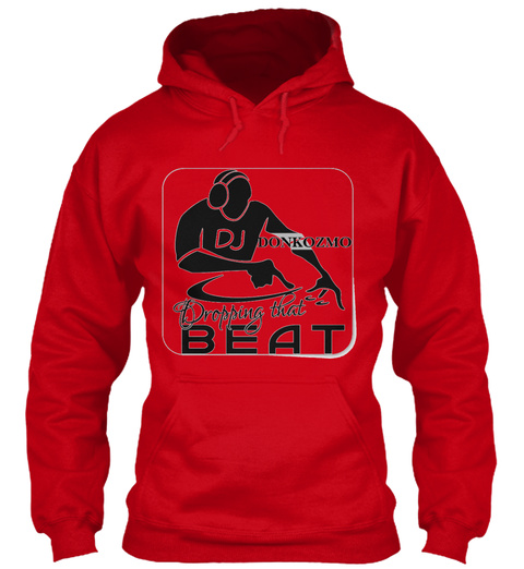 Dropping That Beat Red T-Shirt Front
