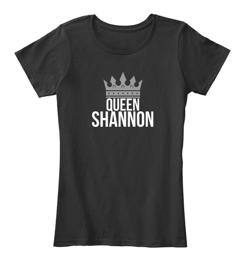Shannon Queen Black T-Shirt Front