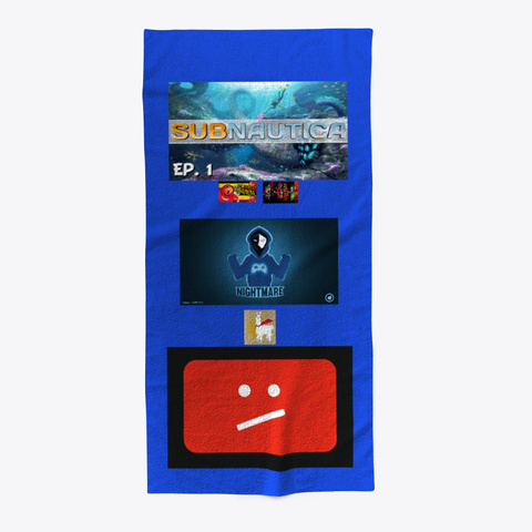 Scott Gameplay Towel  Royal Blue T-Shirt Front