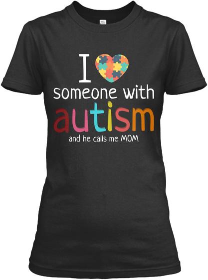 Autism Mom Shirt  Autism Awareness Shirt Black Women's T-Shirt Front