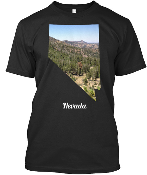 Nevada Black T-Shirt Front