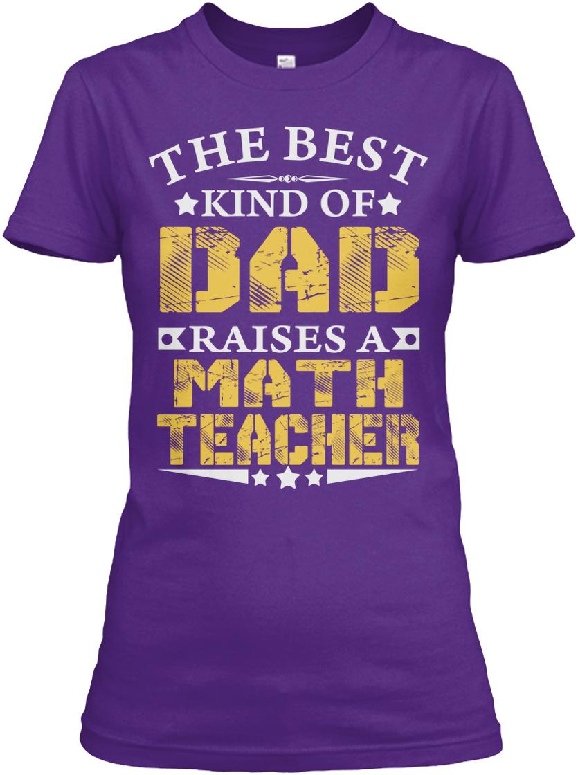 Tee Shirt Clothing Math Teacher to Be A Dad Shirt