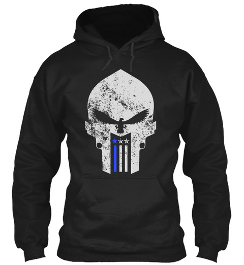 "American Wrath ""Thin Blue Line"" Gear Black Sweatshirt Front"