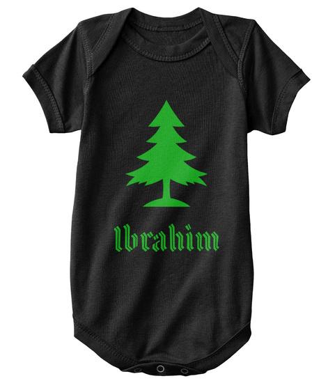Ibrahim Family Christmas Tree   Mini   Black T-Shirt Front