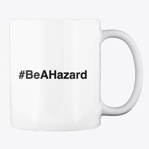 Hazard Mug White T-Shirt Back