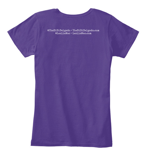 Thedididelgado.Com @Lesliemac Purple Women's T-Shirt Back