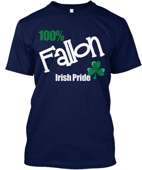 100% Fallon Irish Pride Navy T-Shirt Front