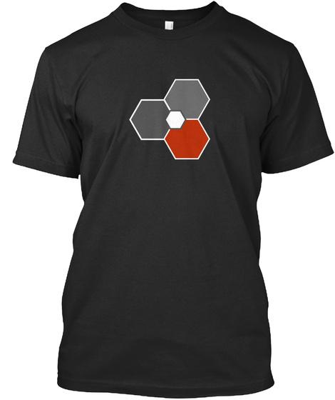 Na Not Visible Black T-Shirt Front