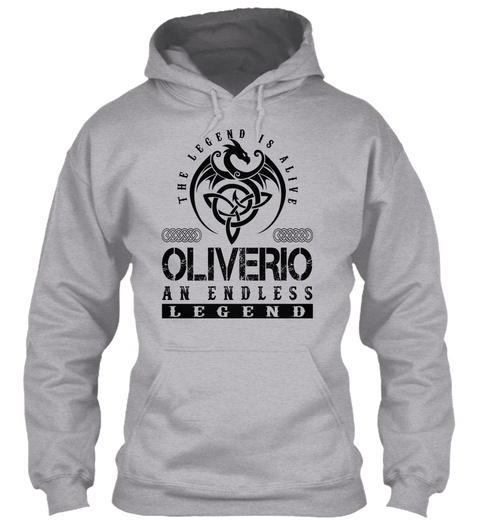 Oliverio   Legends Alive Sport Grey T-Shirt Front
