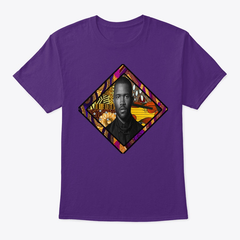 Afro Style Blonde Blond Frank  Purple T-Shirt Front