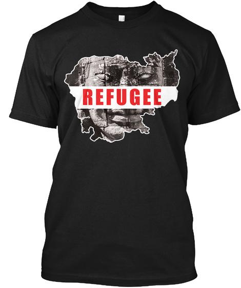Refugee Black T-Shirt Front