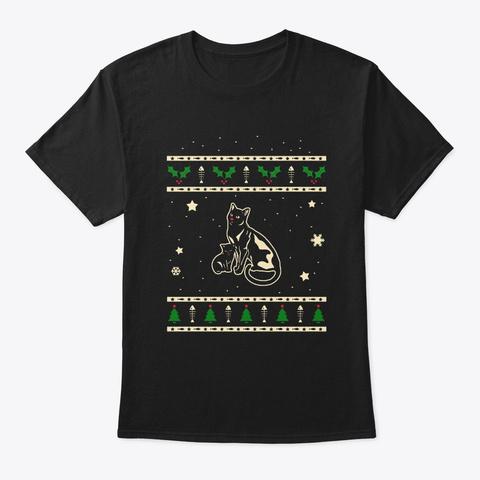Christmas Bombay Gift Black T-Shirt Front