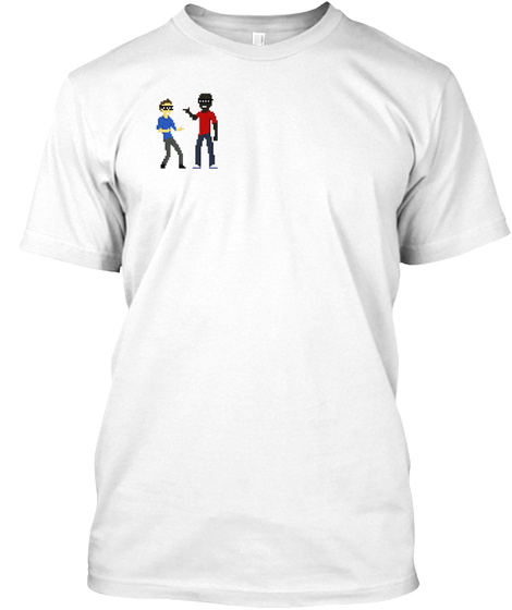 Rhythm And Pixels Official Shirts! White T-Shirt Front