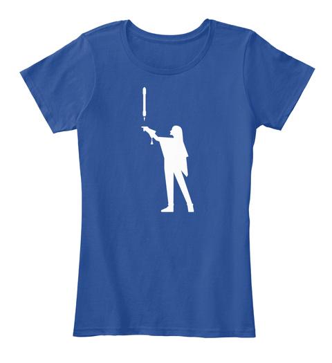 Falconer 3 Woman [Usa] #Sfsf Deep Royal  Women's T-Shirt Front