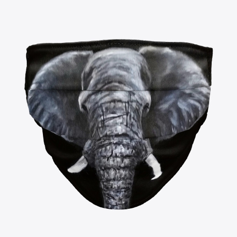 Elephant Face Mask Standard T-Shirt Front