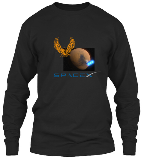 Cool Spacex T Shirts - spacex Long Sleeve T-Shirt from Mars   ...