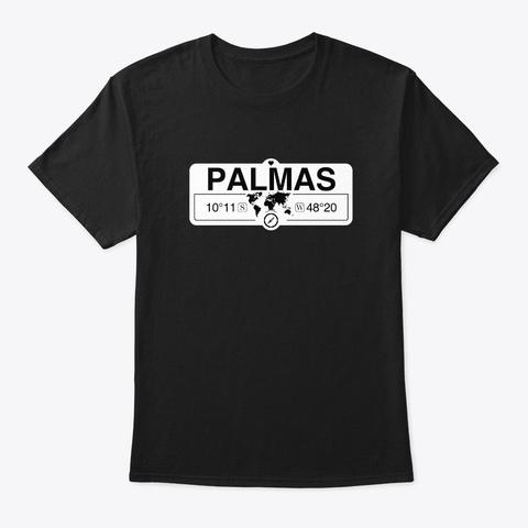 Palmas, Brazil  Black T-Shirt Front