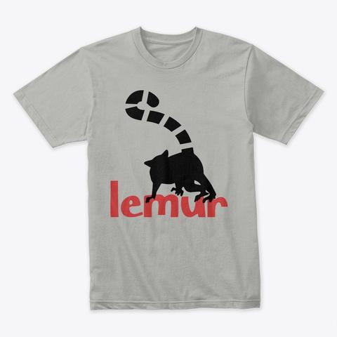 Lemur (Black) Light Grey T-Shirt Front