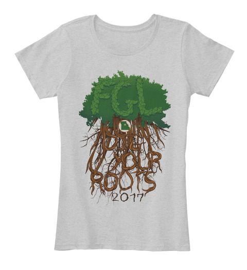 Florida Georgia Line Official Tour Apparel   Columbia, Mo Light Heather Grey T-Shirt Front